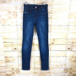 Zara Denim High Rise Skinny Jeans Sz 4
